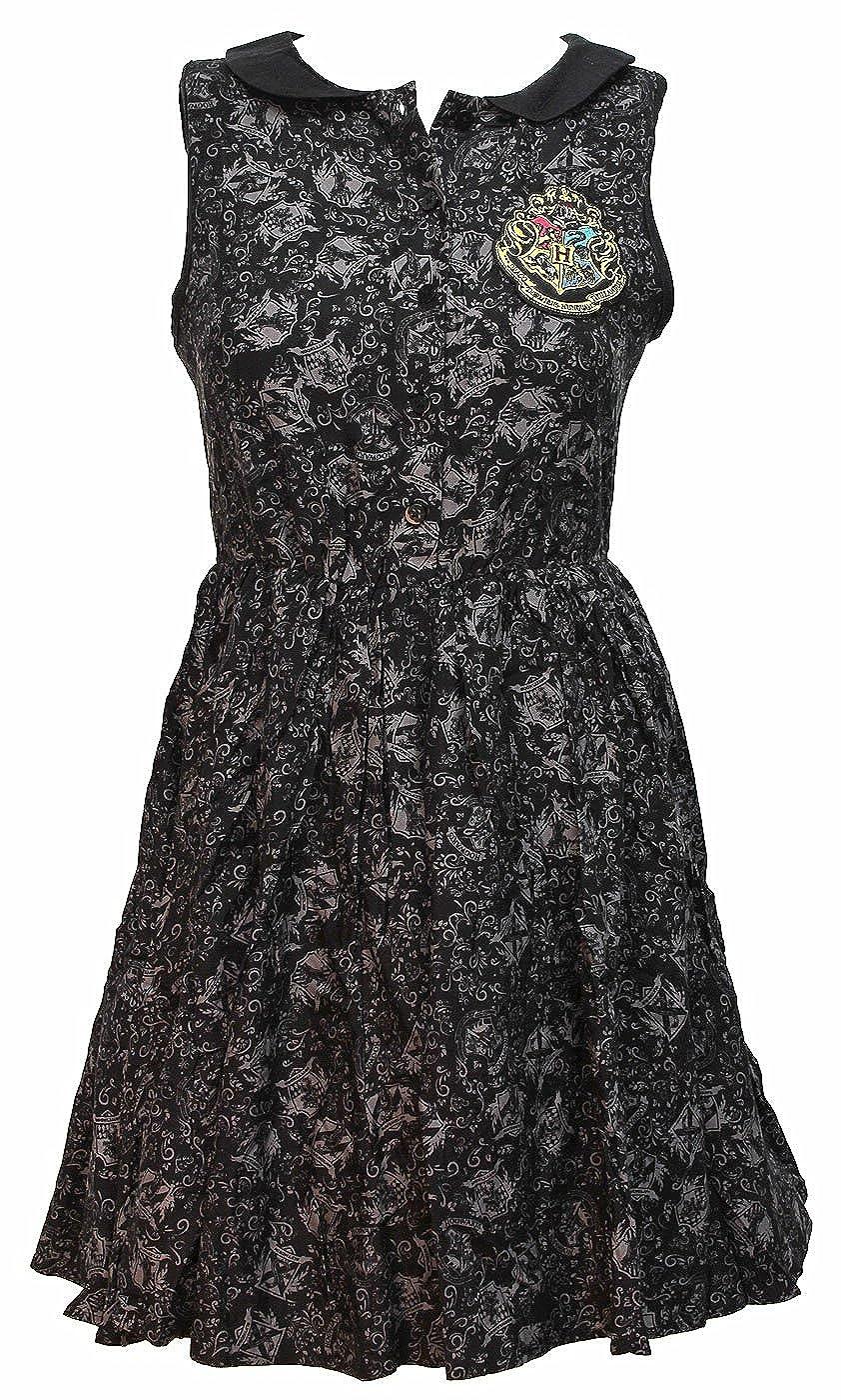 Harry Potter Hogwarts Crest Women's Junior's Collar Dress Bioworld