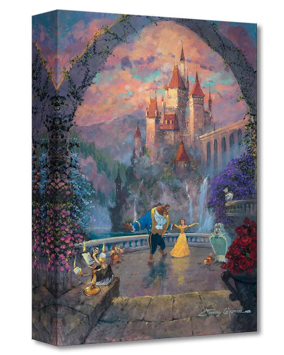 Amazon com disney fine art beast and belle forever by james coleman