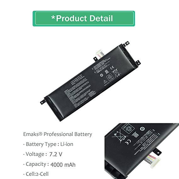 Amazon.com: Emaks B21N1329 Battery for Asus X553MA X453MA X553M X453M X453 X553 X403 X403MA;F453MA F453 F553M F553 P553 P553MA D553M 0B200-00840000 - 7.2V ...