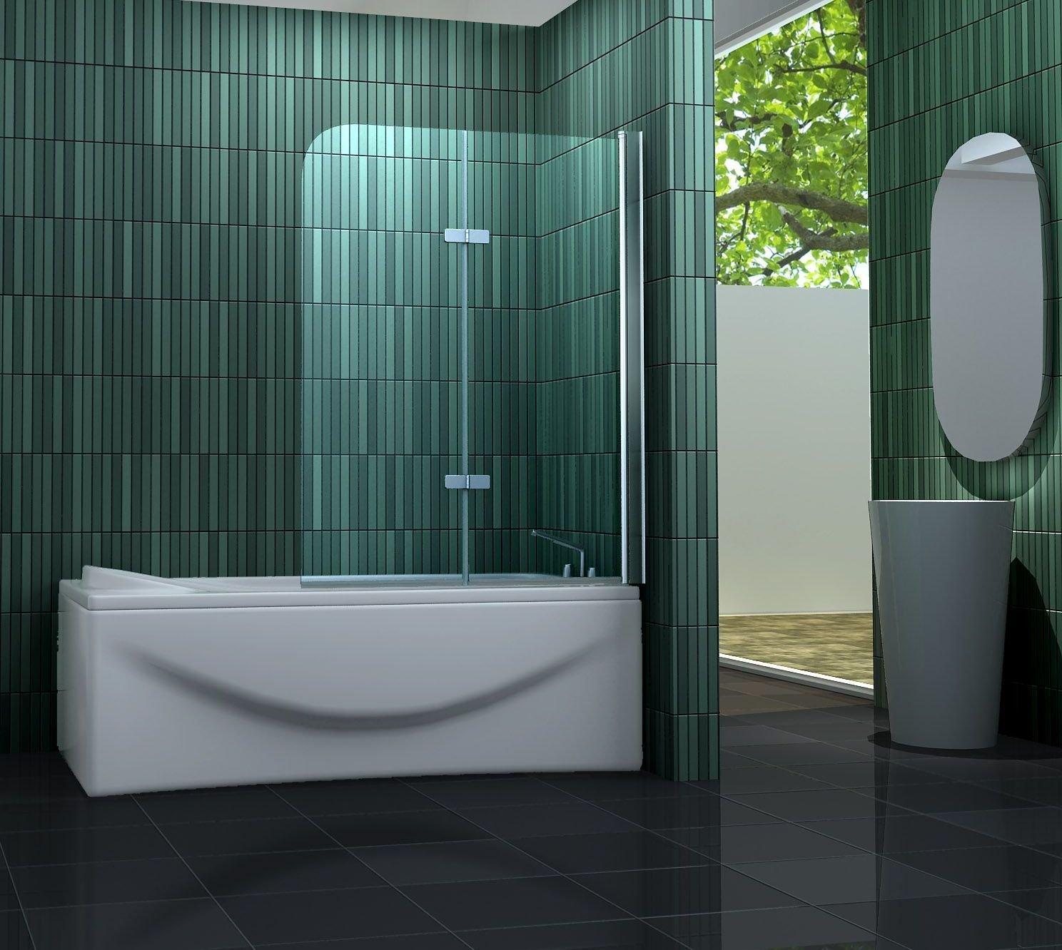 100 x 140 cm Duschtrennwand TWO 100 x 140 cm (Badewanne)