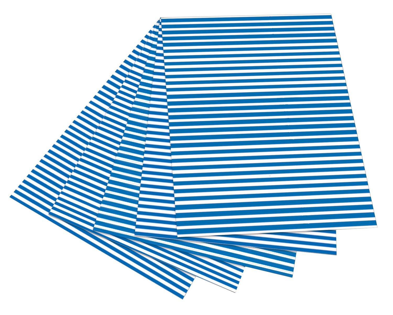 10-teilig Folia 46409 Motivkarton Basics 270 g//m² 10 Motive blau 50 x 70 cm