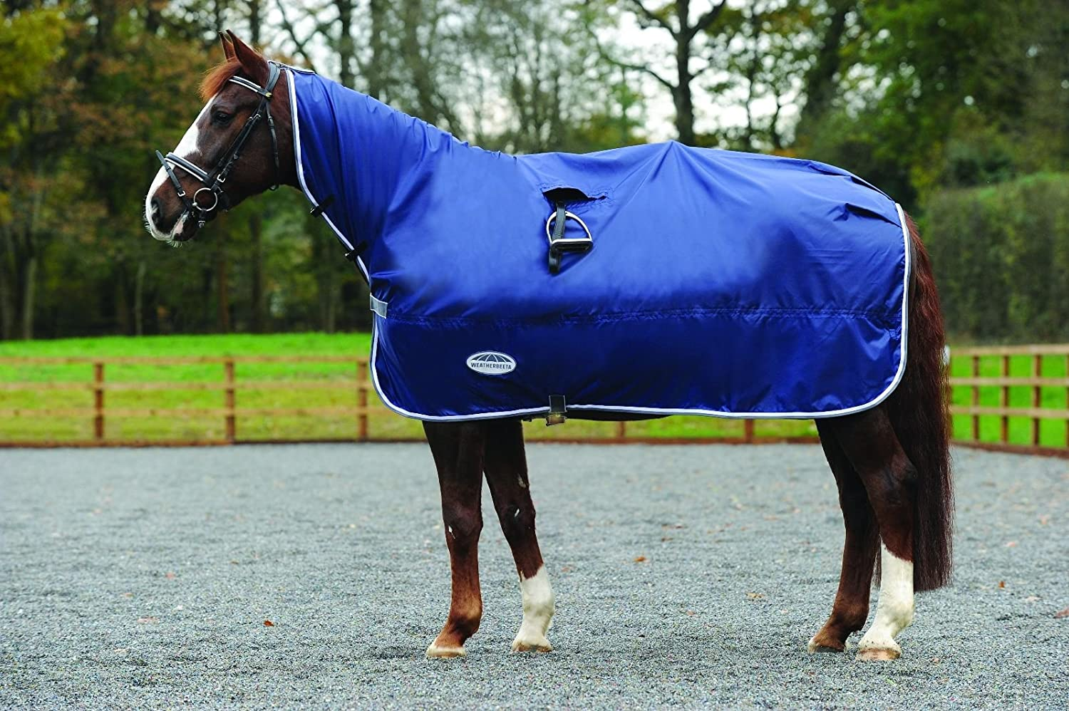 NAVY GREY WHITE Pony NAVY GREY WHITE Pony WEATHERBEETA RAIN SHEET