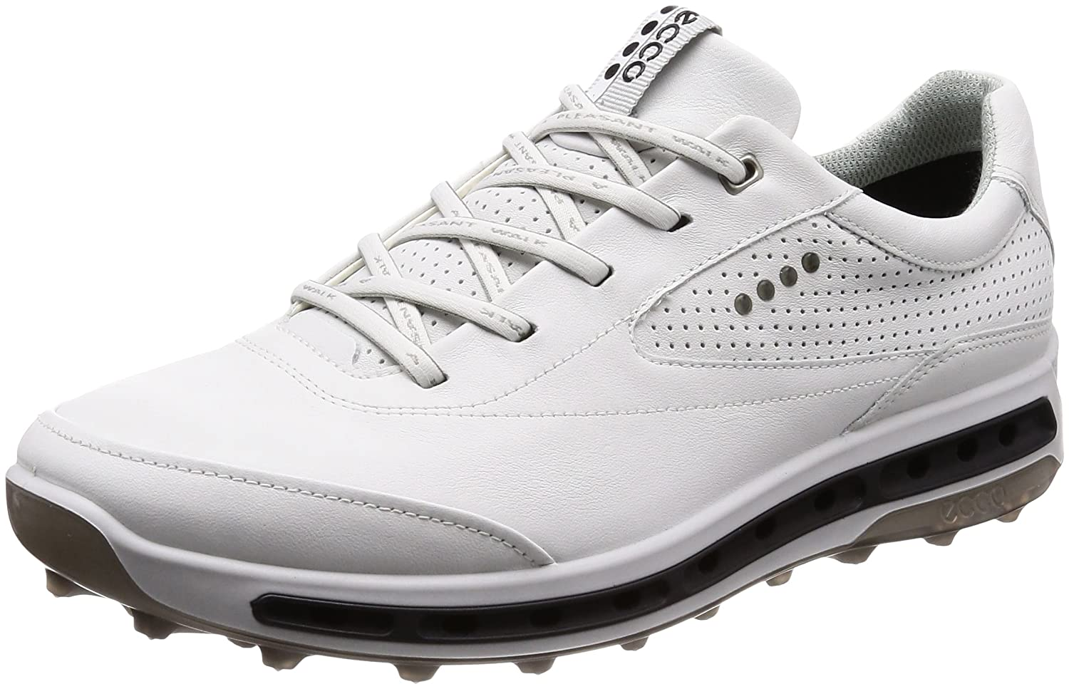 [エコー] ゴルフシューズ ECCO GOLF COOL PRO B0791VDMX3 24.5 cm WHITE/BLACK/TRANS