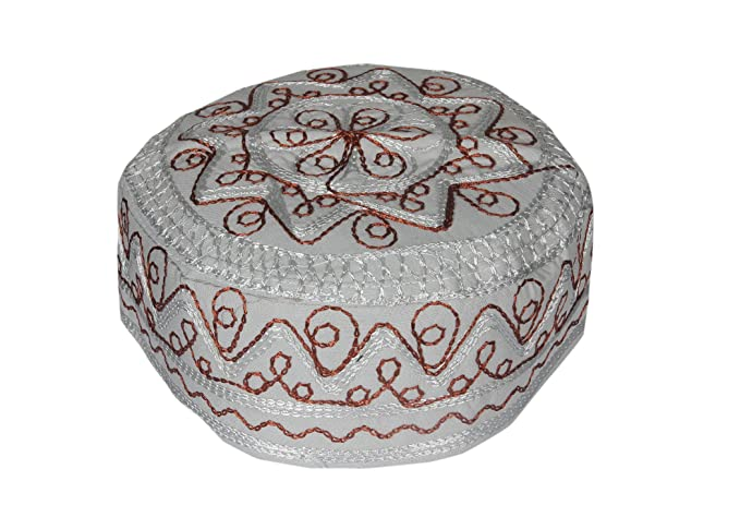 Tremendous Kurti Mania Mens Grey Muslim Prayer Cap With Zigzag Design Frankydiablos Diy Chair Ideas Frankydiabloscom