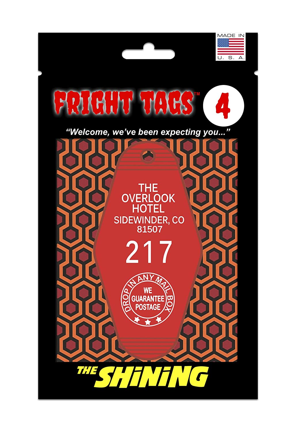Fright Tags # 4 - The Overlook Hotel #217 (Red) - The Shining GW and Son