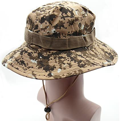 3864414cce3 TrendBox Dessert Digital Army Camo Military Boonie Sun Bucket Hat Unisex Cap  For Sports Camping Fishing