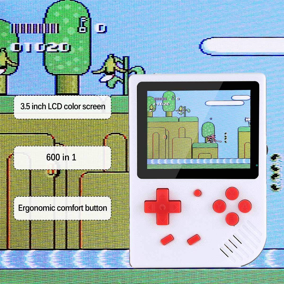 LAYOPO Retro Mini Handheld Video Game Console Gameboy Built-in 600 Classic Games Gift by LAYOPO (Image #2)