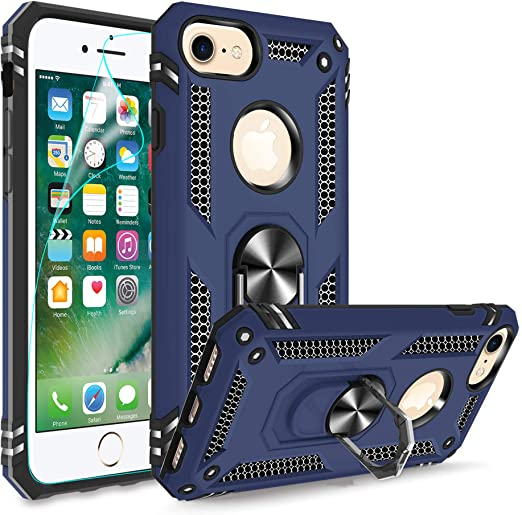 15ft Drop Tested Protective Case Compatible with Apple iPhone SE 2020 Military Grade iPhone 7//8 Case iPhone SE 2020 Case iPhone 7//8 iPhone 6// 6s-Red Kickstand iPhone 6 // 6S Case