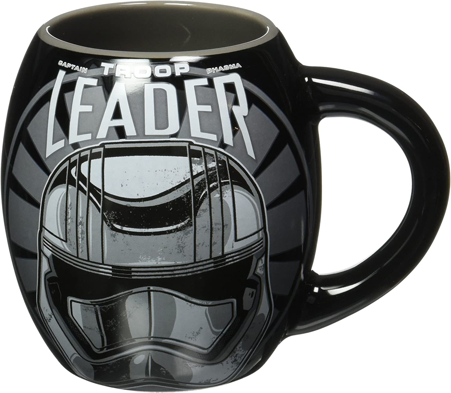 Silver Buffalo SE1244 Disney Star Wars Ep7 Troop Leader Logo Oval Ceramic Mug, 18 oz, Multicolor