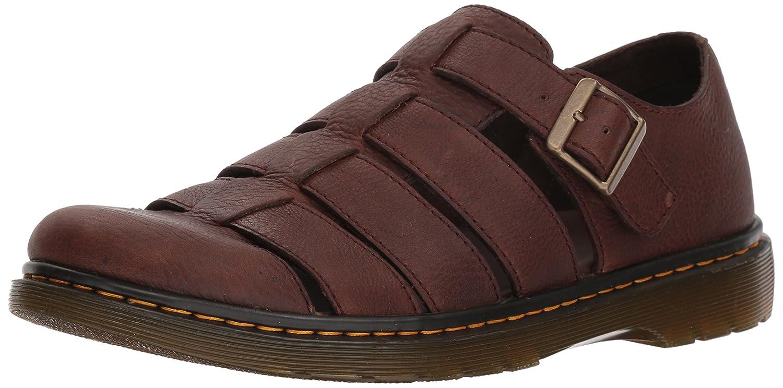 Dark Brown Grizzly Dr. Martens Unisex-Adult Fenton Dark Brown Sandal