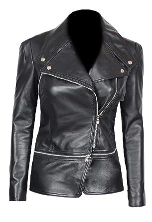 cb135fca269 Womens Leather Jackets - Black Asymmetrical Genuine Lambskin Leather Moto  Jacket | Alabama XS