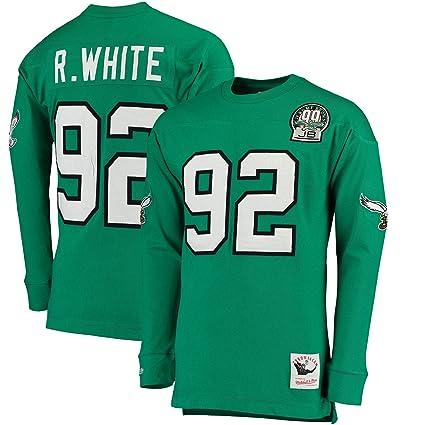 Mitchell Throwback Name Long White Green Eagles Number Sleeve T-shirt Philadelphia Ness Xxl Kelly Reggie com Amazon Clothing amp;