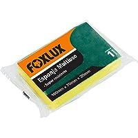 Esponja Multiuso Foxlux – 1 unidade – 100 x 70 x 20 mm – Dupla face – Super-resistente – Para remoção de sujeiras…