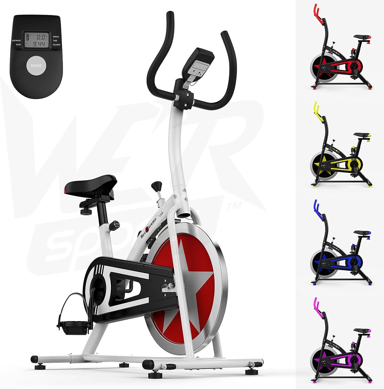 We R Sports Aerobio Entrenamiento Ejercicio Bicicleta Ciclo Aptitud Cardio Ejercitarse Casa Ciclismo Carreras Máquina (Blanco): Amazon.es: Deportes y aire libre