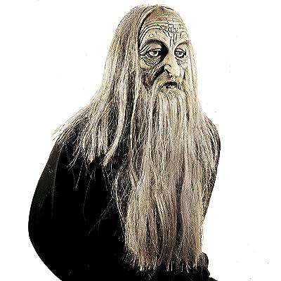 WIDMANN 83155 Máscara millionär con peluca y barba, hombre, gris, talla única: Juguetes y juegos