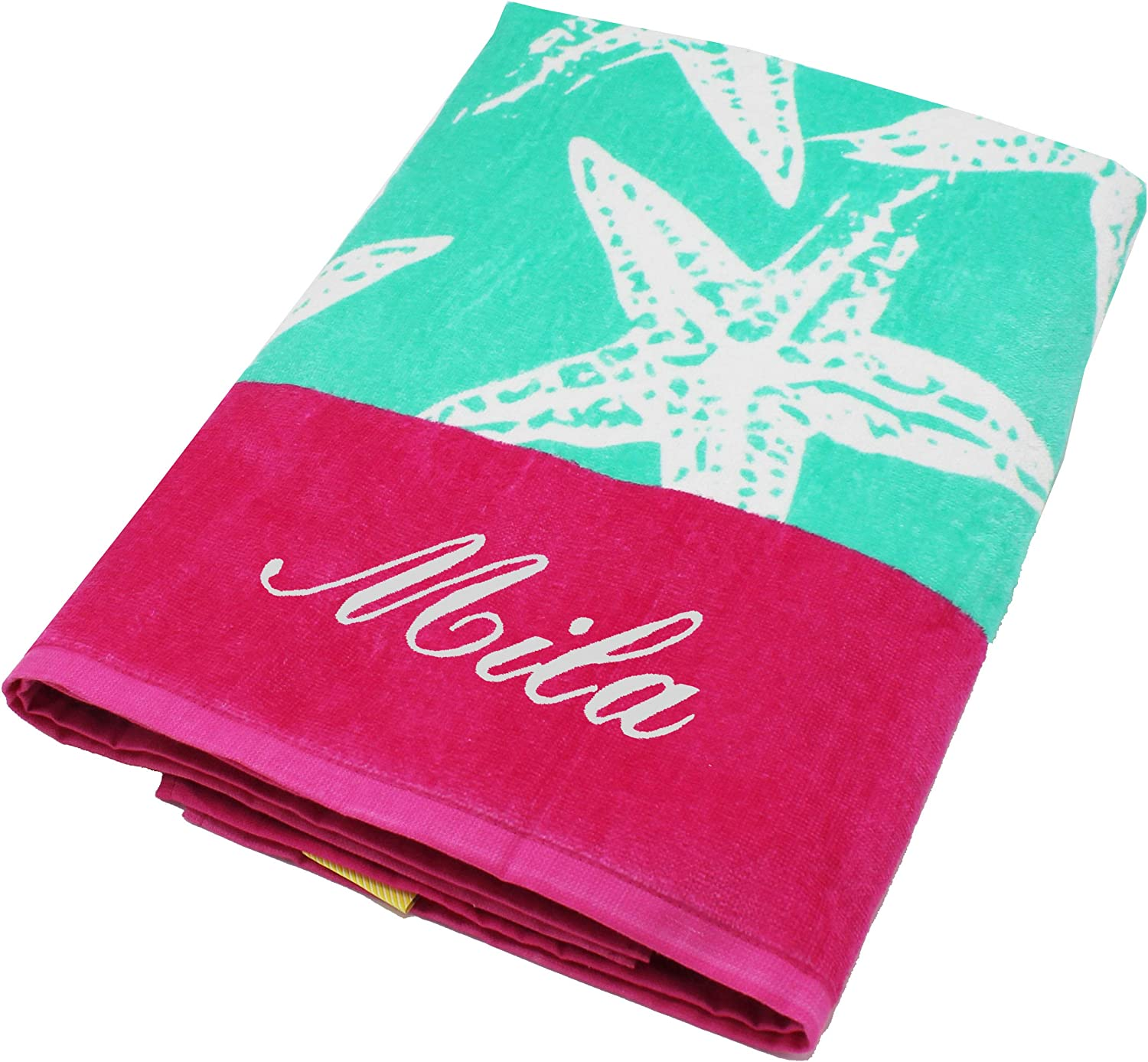 Personalized Beach Towels, Monogrammed Gifts for Kids, Her, Him, Custom Embroidered Towel