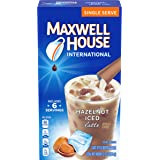 Maxwell House International Cafe Iced Hazelnut Latte Instant Coffee (3.42 oz Boxes, Pack of 8)