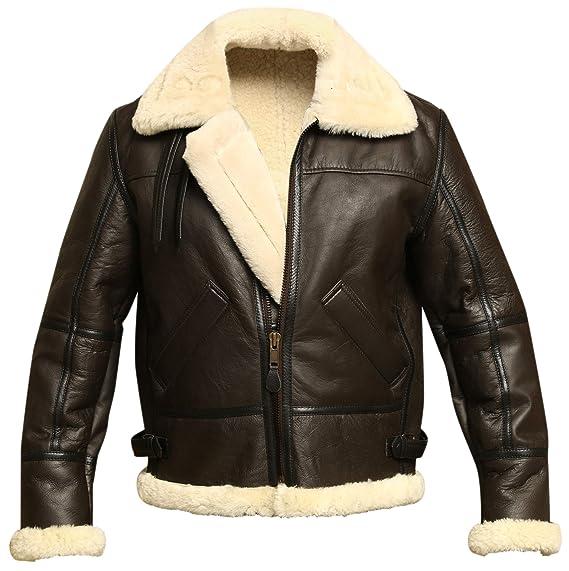 1930s Men's Clothing Men B3 Bomber Aviator WWII Shearling Sheepskin Leather Jacket $279.95 AT vintagedancer.com