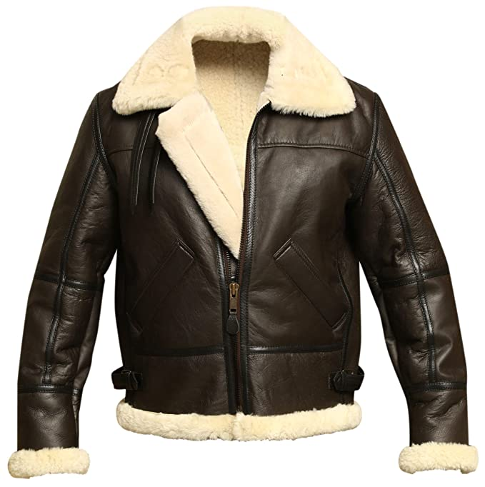 professional sale good quality laest technology Men B3 Bomber Aviator Shearling Sheepskin Leather Winter Jacket