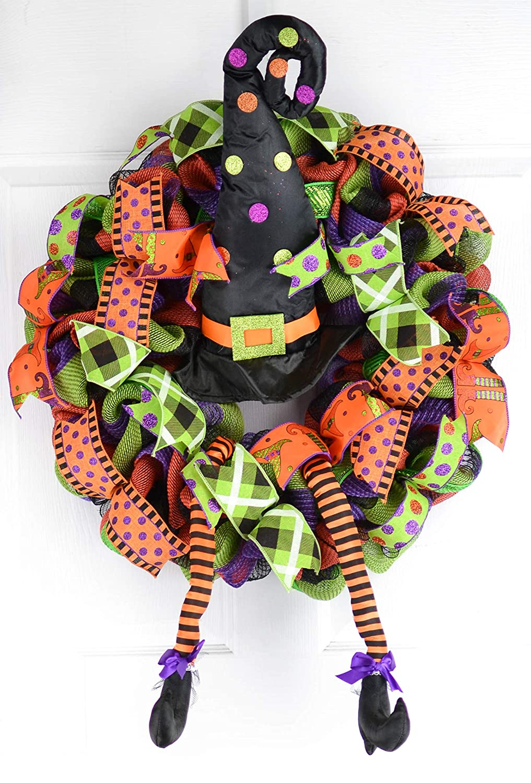 Halloween Witch/'s Wreath