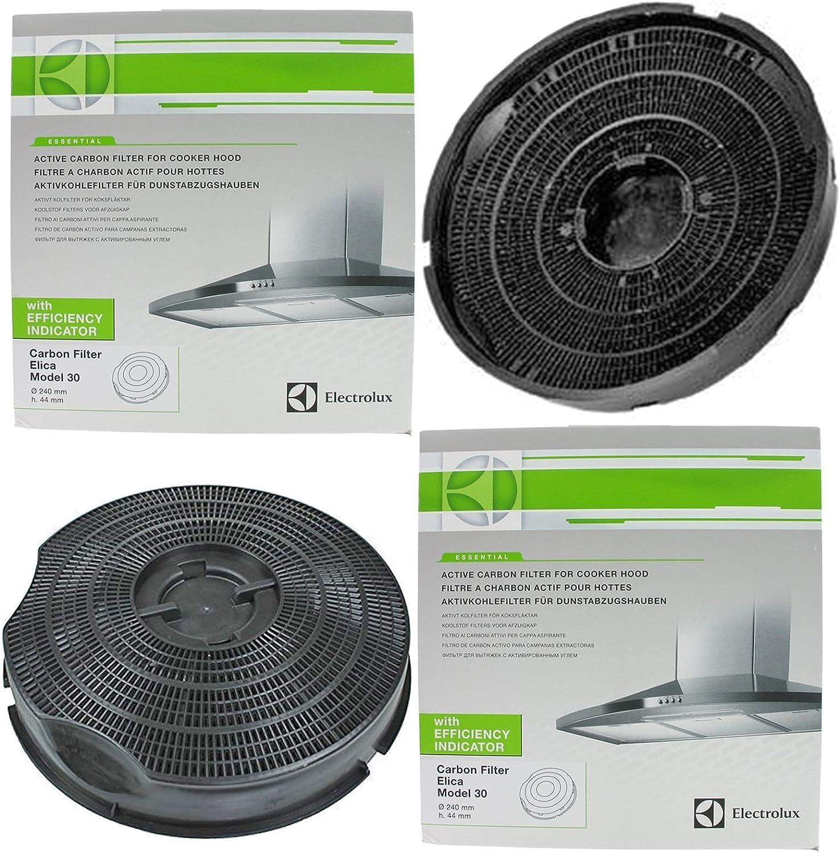 Genuino Hotpoint BH11 BH32 30 tipo de carbono para campana extractora Filtro de ventilación (lote de 2 filtros, 240 mm x 46 mm): Amazon.es: Grandes electrodomésticos