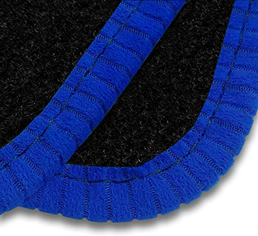 Black Heel Pad 1554 Car Mats to fit 308 2014+ Ultra Durable Full Width Heel Pad Black Trim Black Carpet