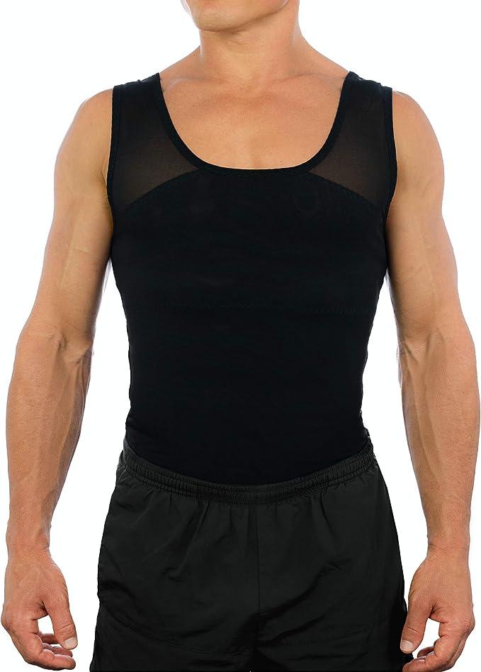Go Athletics Max-Fit Gynecomastia//Man Boob Compression Undershirt