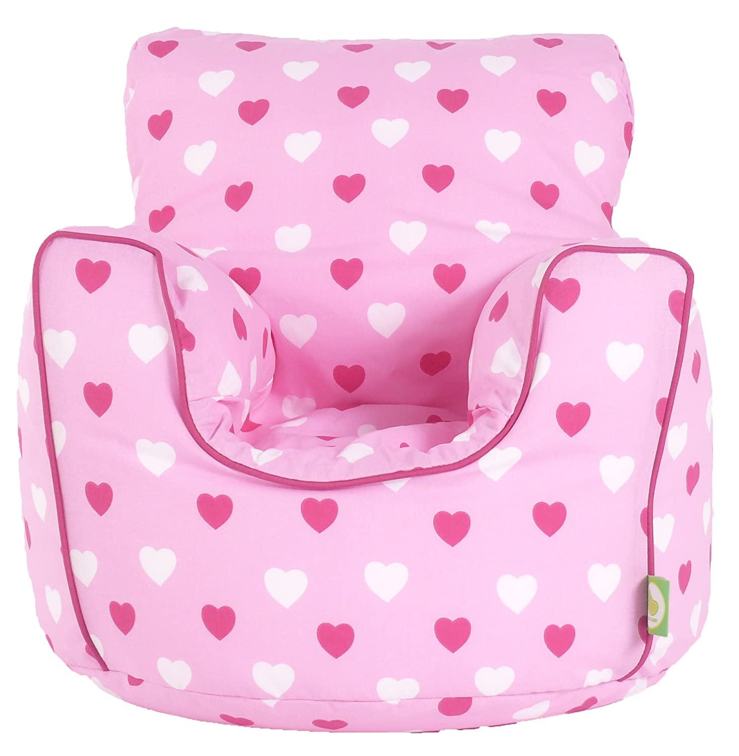 Cotton Pink Hearts Girls Bean Bag Arm Chair with Beans Amazon