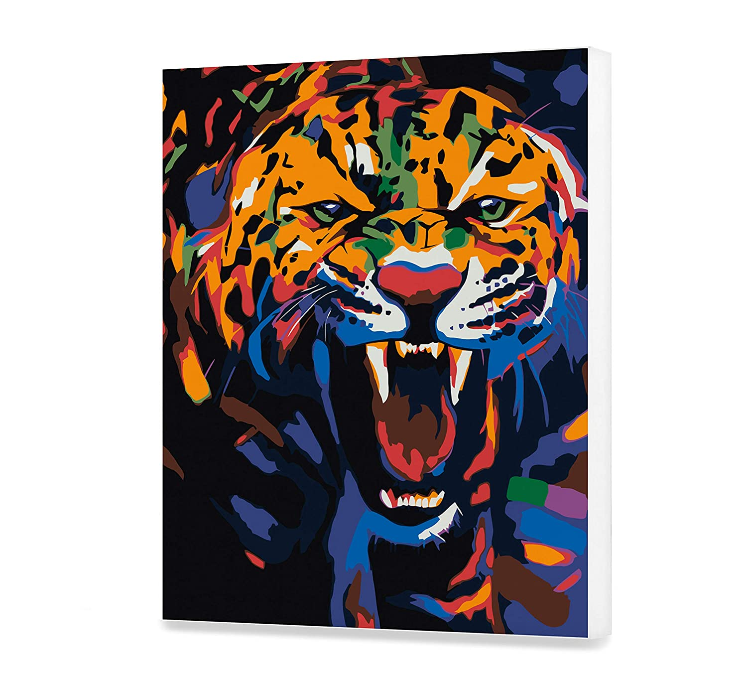 Jaguar Painting By Numbers DIY Kit Animal Paint By Number Art Design Canvas Colorful Painting By Numbers Ellie Benton Painting Kit Home Sittting Hobby