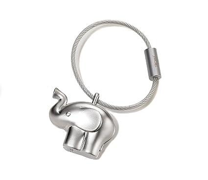 TROIKA - KR14-01 - Llavero de elefante pequeño, metal fundido, mate