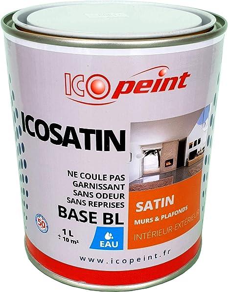 Peinture Acrylique Satin Lessivable 1l Icosatin Ral 5009
