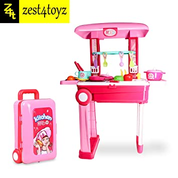 Buy Zest 4 Toyz 2 In 1 Little Chef Kids Kitchen Play Set With
