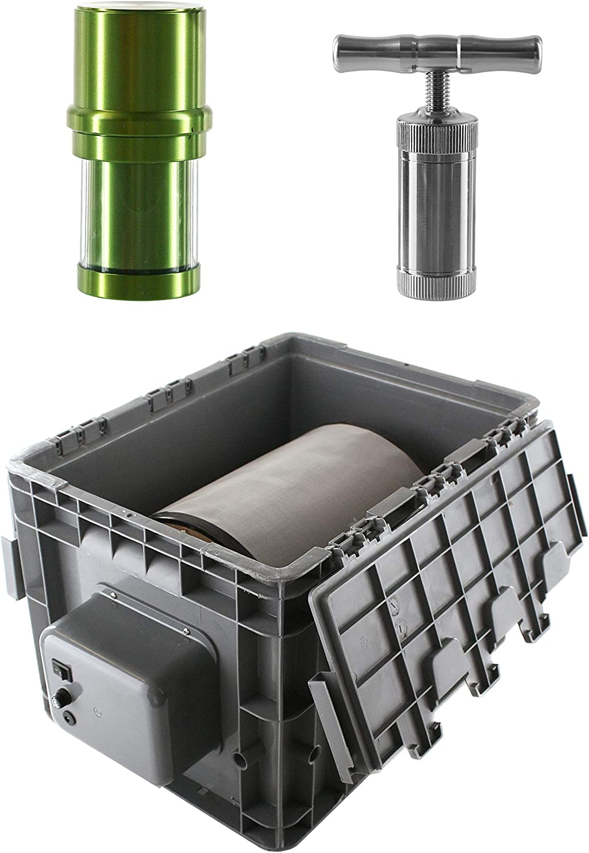 Heisenberg Máquina de Polen eléctrica 9 litros Extractor de Polen de Centrifugado con Prensa de Polen y Grinder