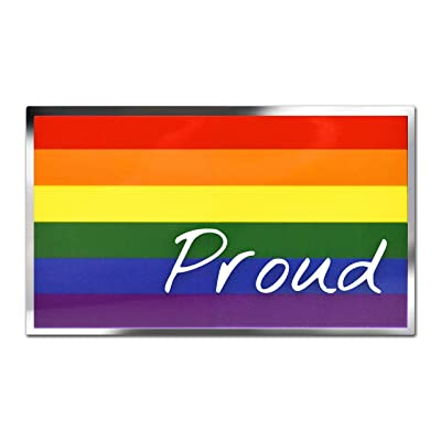 Rainbow Proud Flag Premium Decal: Automotive