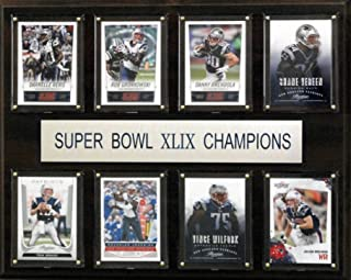 product image for C&I Collectables NFL New England Patriots Super Bowl XLIXI Plaque (8-Card), 12 x 15-Inch