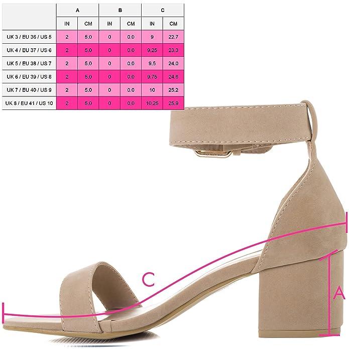 Spylovebuy Verstellbare Schnalle Blockabsatz Sandalen Schuhe Pumps Synthetik Wildleder Gr 39 jfjsQW