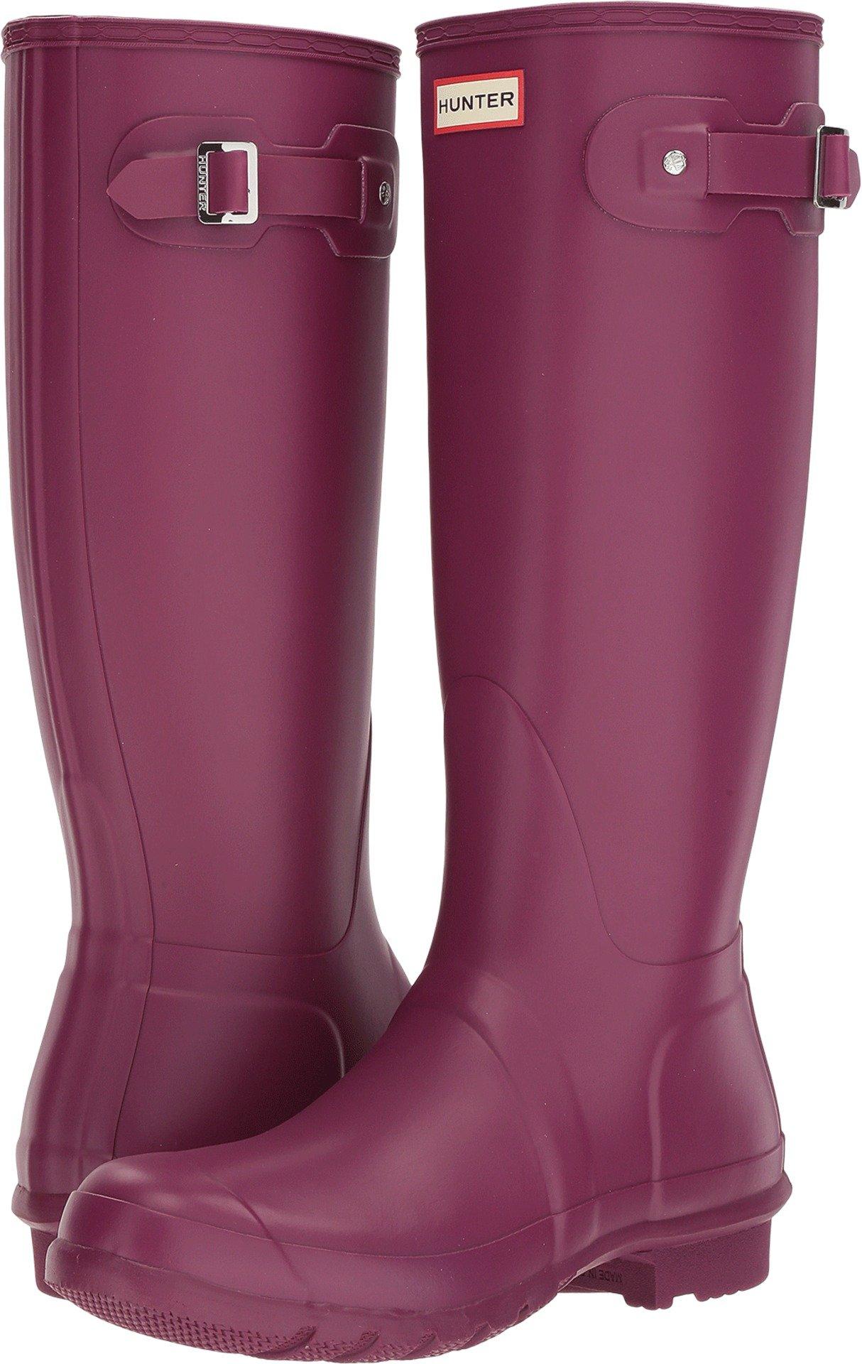 Hunter Women's Original Tall Violet Rain Boots - 9 B(M) US