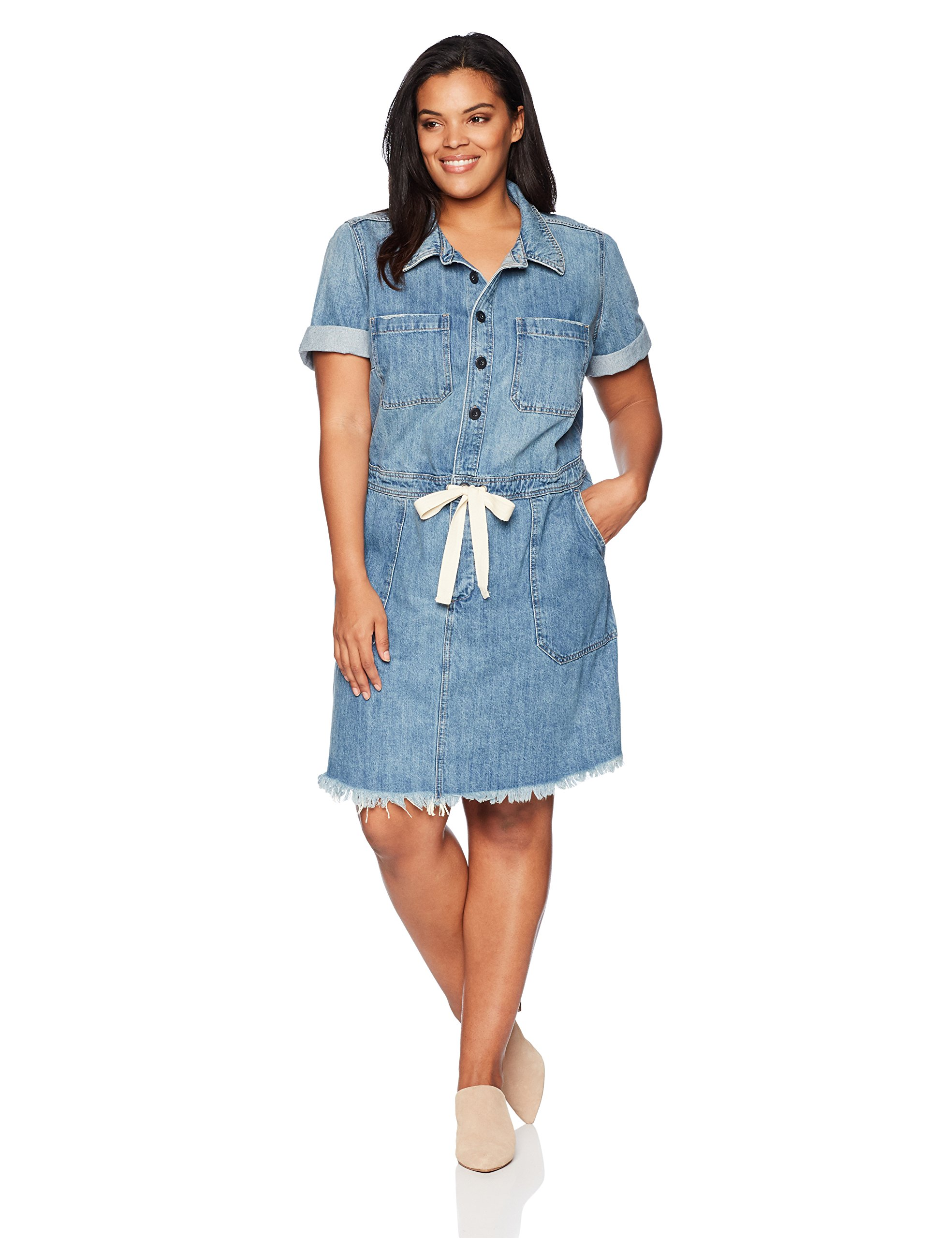 Lucky Brand Women's Plus Size Drawstring Dress, Seville, 2X by Lucky Brand (Image #1)