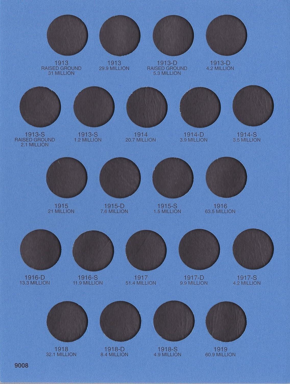 BINDER BOARD FOLDER VOLUME SET BOOK PORTFOLIO PUBLICATION HOLDER CARD COLLECTION PAGE 1913-1938 BUFFALO NICKELS USED WHITMAN SERIES No 9008 COIN; ALBUM