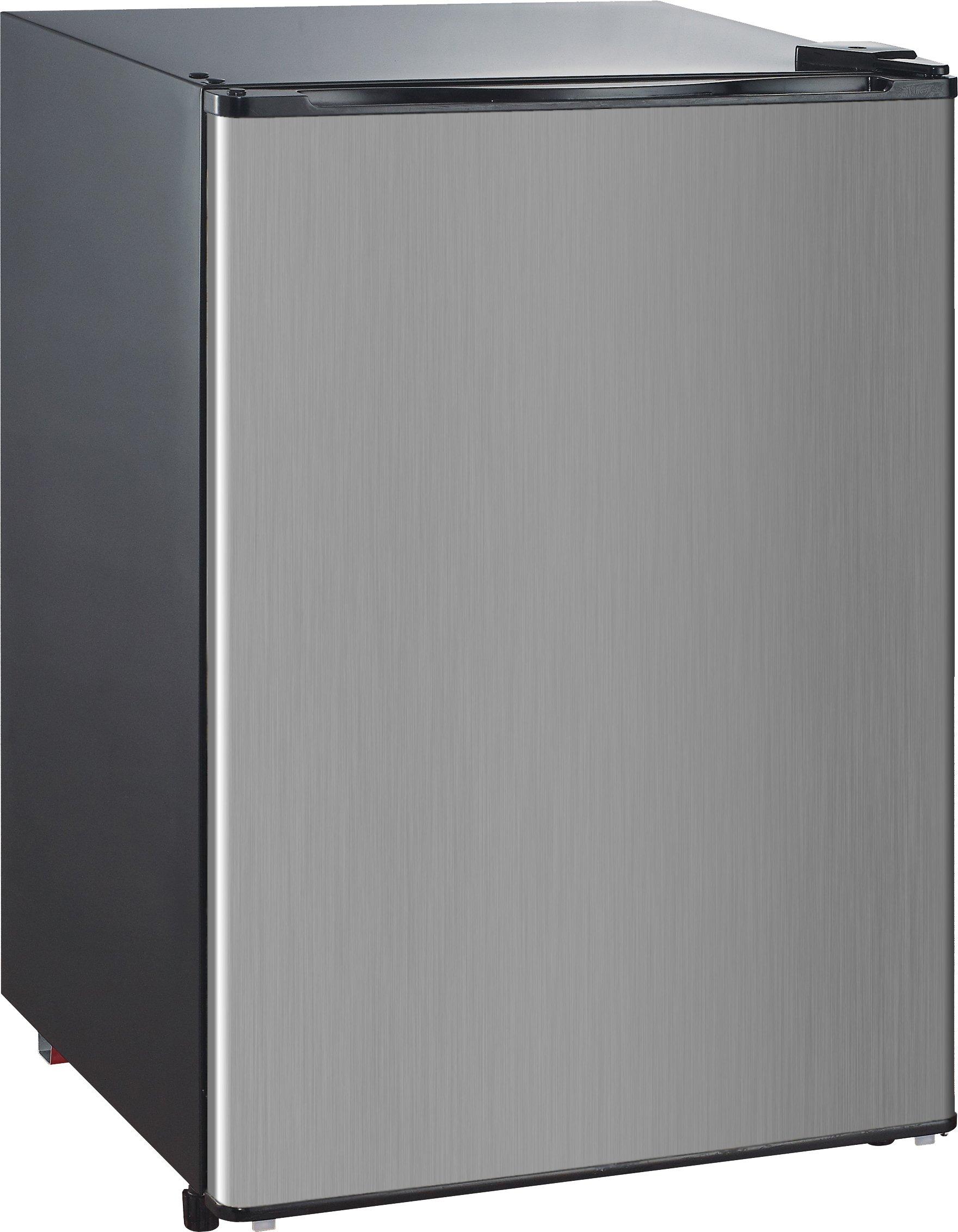 RCA-Igloo 4.6 Cubic Foot Fridge, Stainless Steel