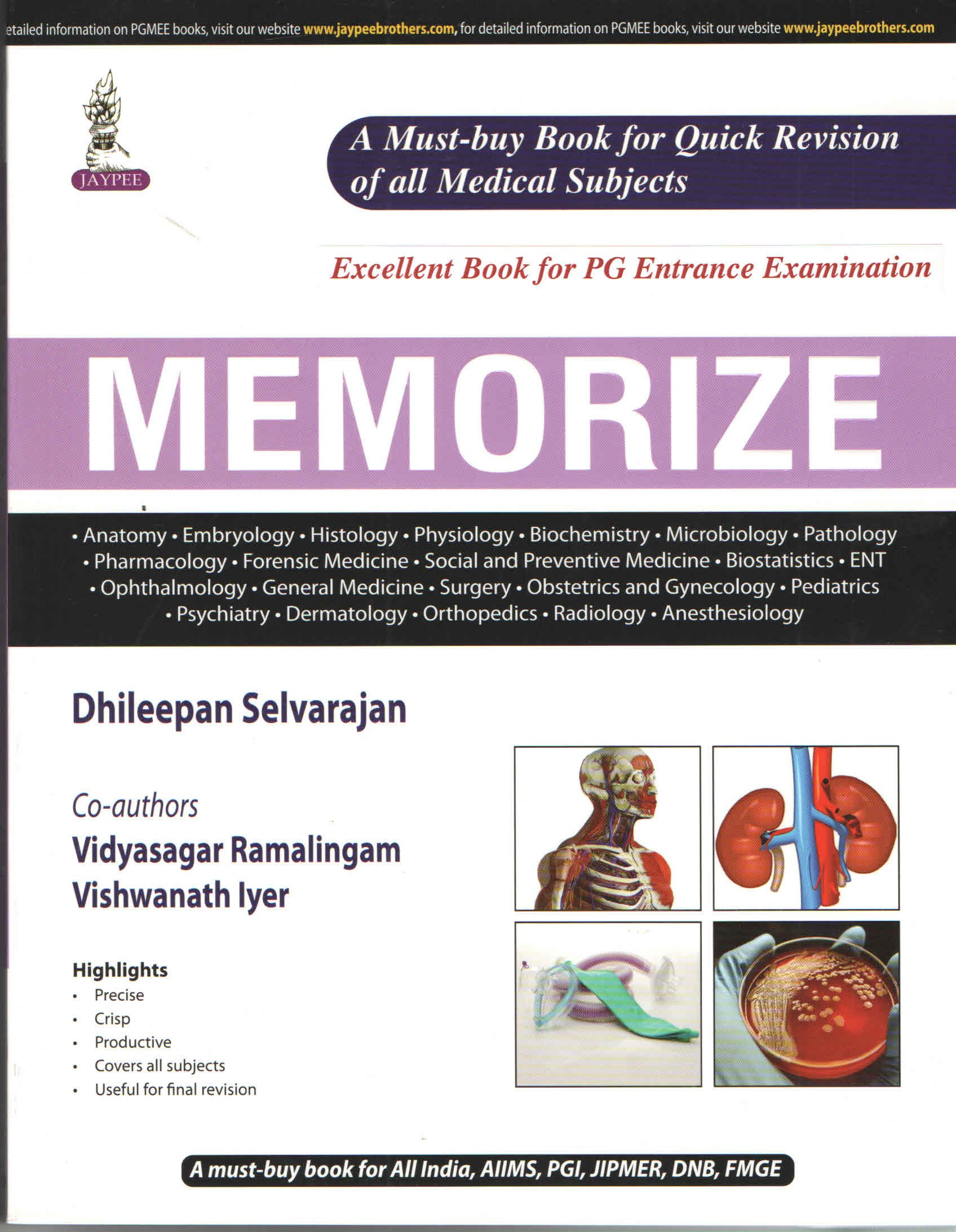 Buy Memorize: For PG Entrance Examination (PGMEE) Book Online at Low ...