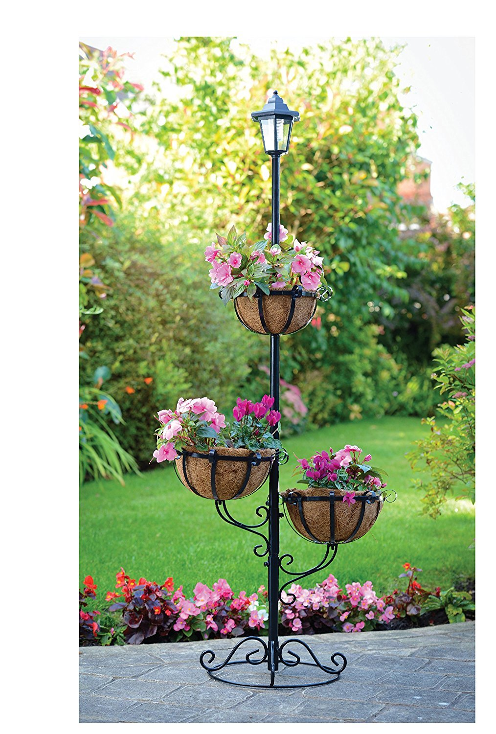 New Stock Solar Powered 3 Tier Flower Stylish Planter Amazon
