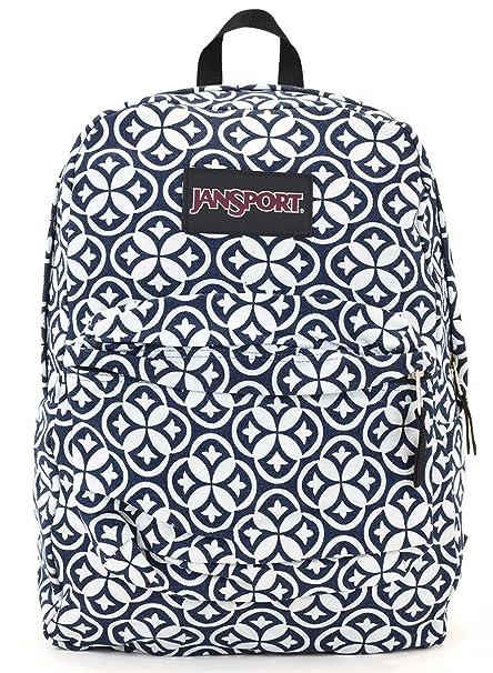 Amazon.com: Jansport Superbreak Backpack (super FX white denim emblem): Sports & Outdoors