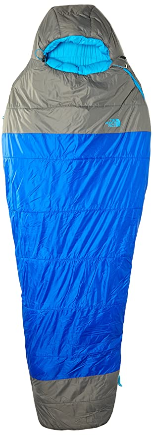 The North Face Cats Meow - Saco de dormir momia para acampada, color azul,