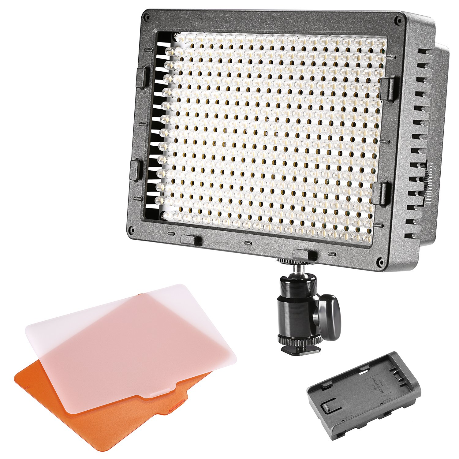 NEEWER CN-304 304PCS LED Dimmable Ultra High Power Panel Digital Camera/Camcorder Video Light, LED Light for Canon, Nikon, Pentax, Panasonic, SONY, Samsung and Olympus Digital SLR Cameras
