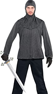 AMSCAN Chainmail Tunic and Cowl, One Size