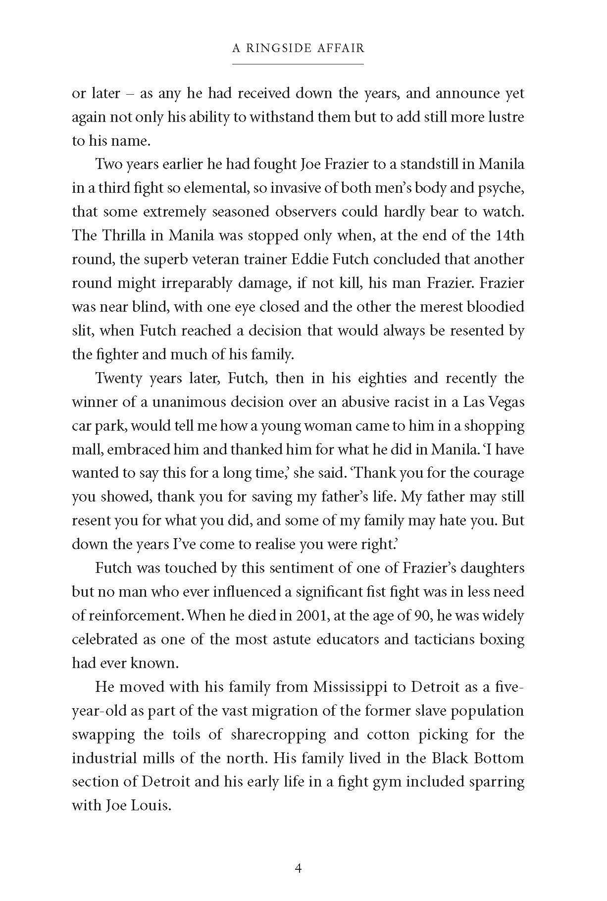 A Ringside Affair: Boxing's Last Golden Age: James Lawton