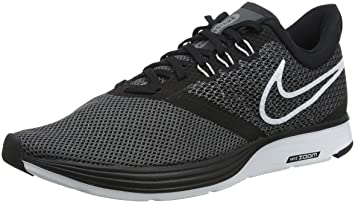 d904cf867bcd6 Nike Women s Zoom Strike Black White-Dark Grey Ankle-High Running Shoe -