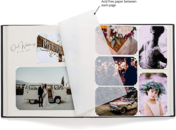 Amazon Com Premium Black Photo Album Large Capacity 100 Pages Writing Space Multiple Photo Sizes 4x6 5x7 6x8 8x10 Dry Mount Acid Free Scrapbook Album For Weddings Family Pictures Travel Or Anniversary Office Products