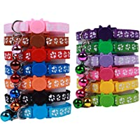 OLRIKE 13 Pcs Cat Collar with Bell and Colorful, Breakaway Adjustable Safe Durable for cat